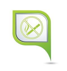 No smoking green pointer vector