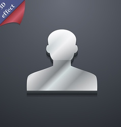 User person log in icon symbol 3d style trendy vector