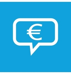 Euro message icon vector