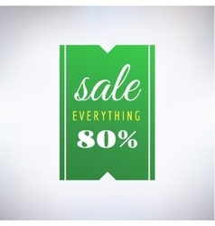 Sale sticker icon shopping discount and vector
