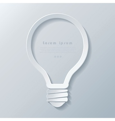 Modern idea lightbulb icon banner template vector