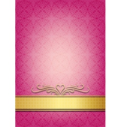 Abstract pink invitation vector