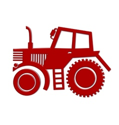 Tractor car icon vector
