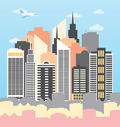 A city on a sunny day vector