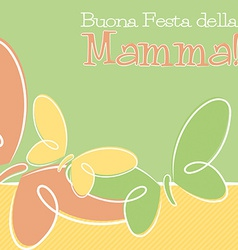 Hand drawn italian happy mothers day card in vector
