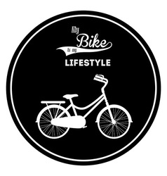 Bike lifestyle design vector
