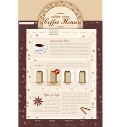 Template site coffee shop vector