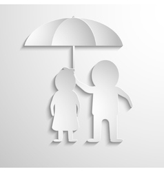 Together under umbrella vector
