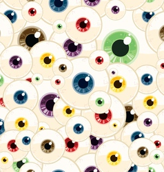 Seamless eyeball pattern vector