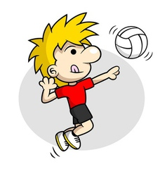 Volleyball spike vector