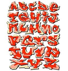 Graffiti font alphabet letters vector