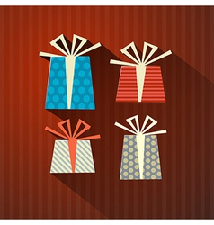 Retro paper gift present boxes vector