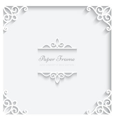 Square paper frame vector