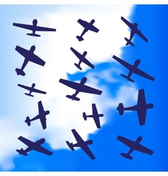 Plane silhouette vector