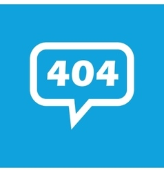 Error 404 message icon vector