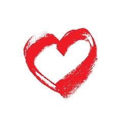 Hand drawn grunge chalk heart vector