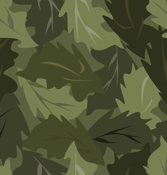 Seamless background dark leaves vector