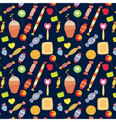 Sweets funny background with candies vector