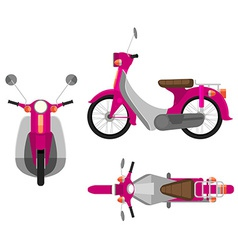 A pink motor vehicle vector