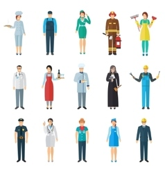 Profession avatar icons set vector