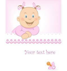 Baby girl arrival announcement vector