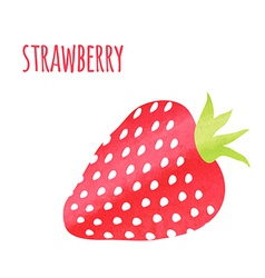 Abstract colorful watercolor strawberry isolated vector