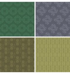 Patterns and seamless backgrounds vector
