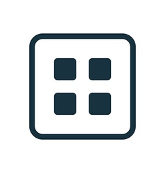 List icon rounded squares button vector