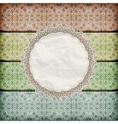 Seamless floral borders abd napkin vector
