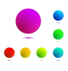 Colorful balls isolated vector
