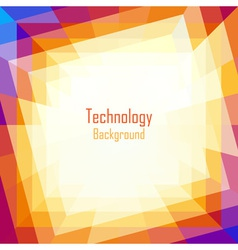 Abstract coloful technology background vector