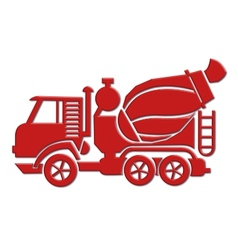 Cement mixer car icon vector