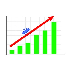 Business growth chart vector