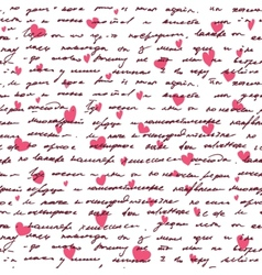 Love background with seamless hand drawn text and vector