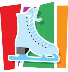 Ice skate graphic vector