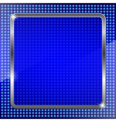 Blue fluorescent background vector