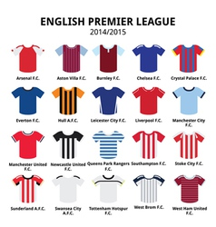 English premier league 2014 - 2015 football jersey vector