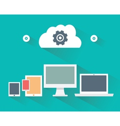 Concept of computer and mobile devices vector