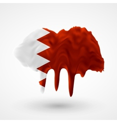Flag of bahrain painted colors vector