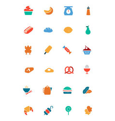 Food and drinks colored icons 6 vector