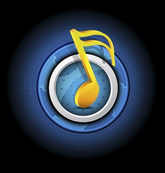 Music symbol with button vector