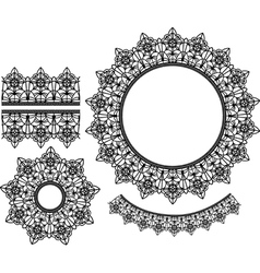 Set of lace elements vector