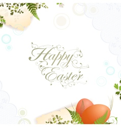 Easter holiday frame vector