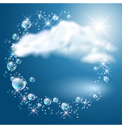 Clouds and sunshine vector