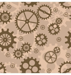 Abstract background with mechanism cogs vector