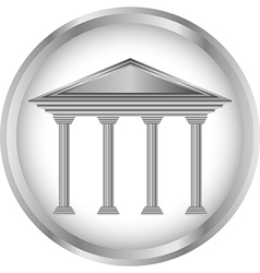 Bank icon or button vector