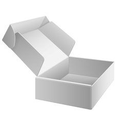 White package box opened for electronic device vector