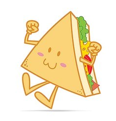 Smile cute sandwich vector