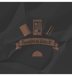 Business menu simple flat style vector