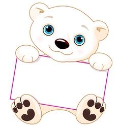 Polar bear sign vector